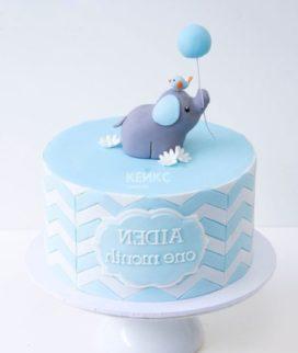 Торт со слоником и шариком Фото