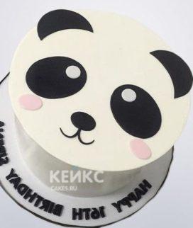 Милый торт в виде мордочки Панды Фото