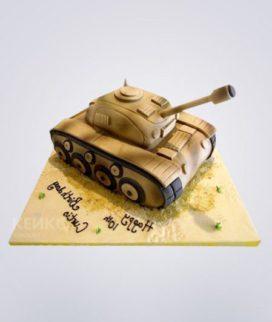 Торт в виде танка Фото
