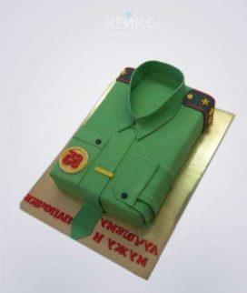 Торт на военную тематику Рубашка военному Фото