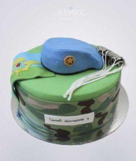 Торт ВДВ с голубым беретом Фото