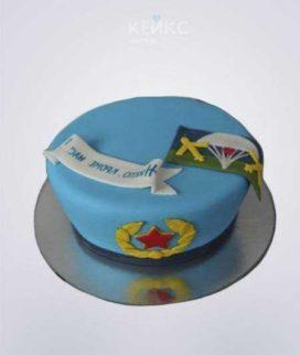 Торт ВДВ в виде голубого берета Фото