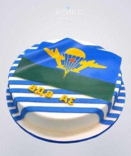 Полосатый торт с эмблемой ВДВ Фото