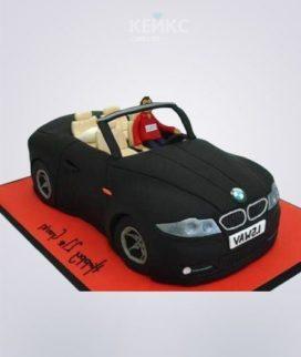 Торт в виде черной БМВ Фото