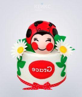 Торт Божья коровка с ромашками Фото