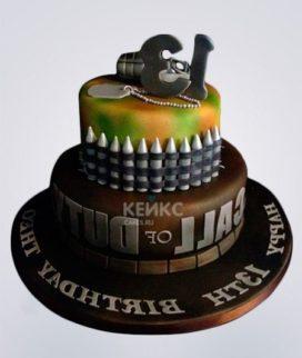 Торт с гранатой и боеприпасами Фото