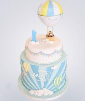 Торт с бурундуком на воздушном шаре Фото