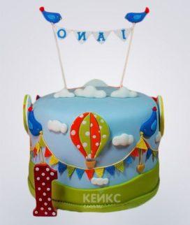 Торт бирюзовый 13 Фото
