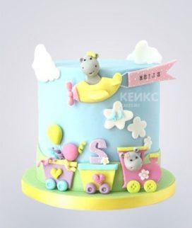 Торт бирюзовый 15 Фото