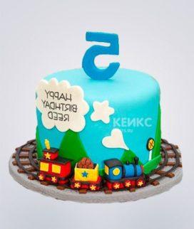 Торт бирюзовый Фото