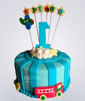 Торт бирюзовый 9 Фото