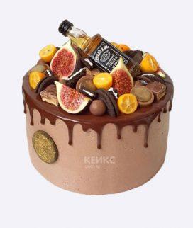 Милый торт с инжиром и виски Фото