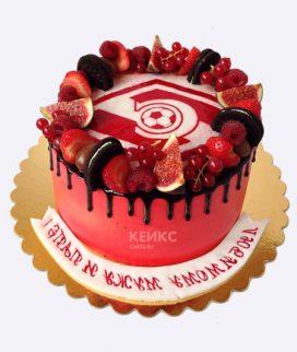 Ягодный торт в красных оттенках Фото