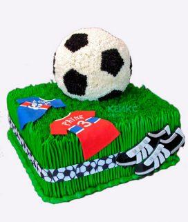 Торт футбол без мастики 9 Фото