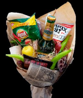 Букет из чипсов и сухариков Фото