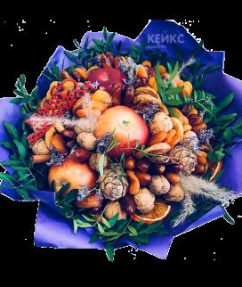Букет из фруктов и сухофруктов 1 Фото