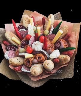 Букет из мяса и колбасы Фото