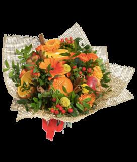 Букет с фруктами и цветами 10 Фото
