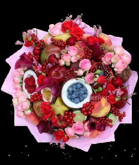 Букет с фруктами и цветами 8 Фото