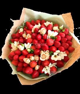 Букет с фруктами и клубникой 2 Фото