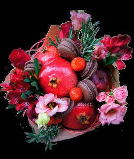 Букет с фруктами и клубникой 3 Фото