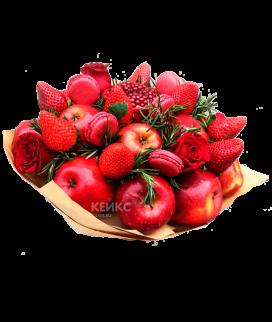 Букет с фруктами и клубникой 4 Фото