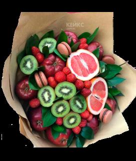 Букет с фруктами и клубникой 5 Фото