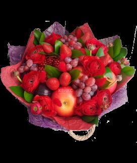 Букет с фруктами и клубникой 6 Фото