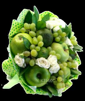 Букет с фруктами и виноградом 1 Фото