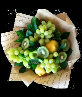 Букет с фруктами и виноградом 2 Фото