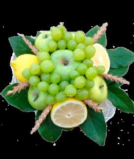 Букет с фруктами и виноградом Фото