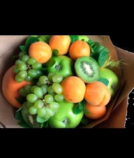 Букет с фруктами и виноградом 3 Фото