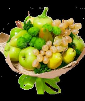Букет с фруктами и виноградом 4 Фото