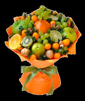 Букет с фруктами и виноградом 5 Фото