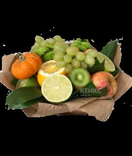 Букет с фруктами и виноградом 6 Фото