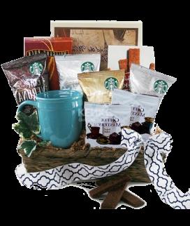 Корзина с кофе и чаем Фото