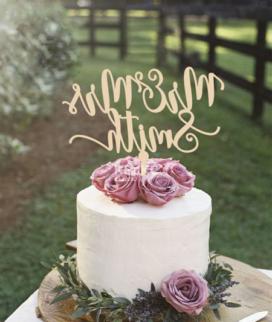 Одноярусный свадебный торт без мастики 19 Фото