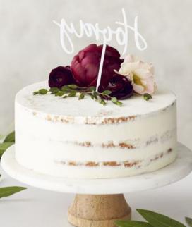 Одноярусный свадебный торт без мастики 20 Фото