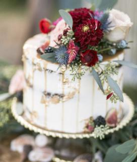 Одноярусный свадебный торт без мастики 24 Фото