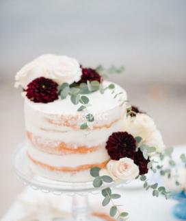 Одноярусный свадебный торт без мастики 35 Фото