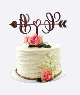 Одноярусный свадебный торт без мастики 9 Фото